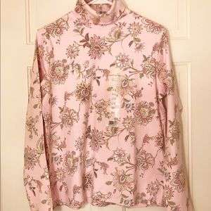 White Stag light pink long sleeve turtle neck